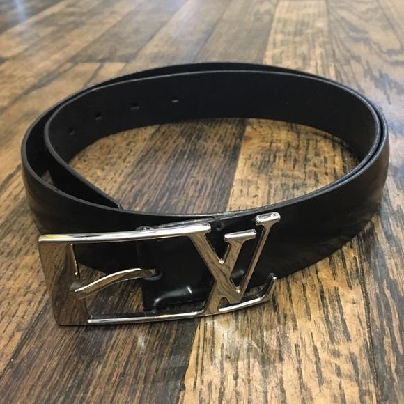 f282d7f0496c Louis Vuitton Other - Louis Vuitton Black Leather Belt